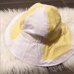 Columbia yellow n white floppy sun hat!